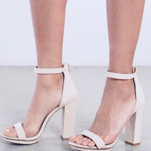 Pale Pink Platform Heels